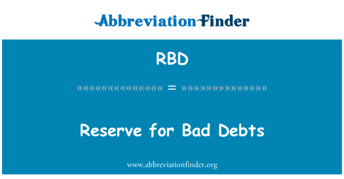 RBD: Reserve for Bad Debts