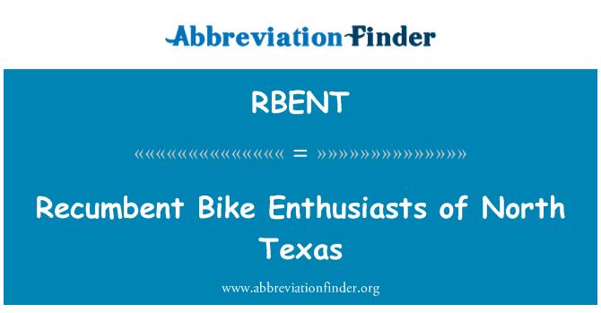 RBENT: Recumbent Bike Enthusiasts of North Texas
