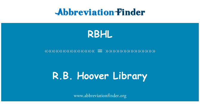 RBHL: R.B. Hoover Library