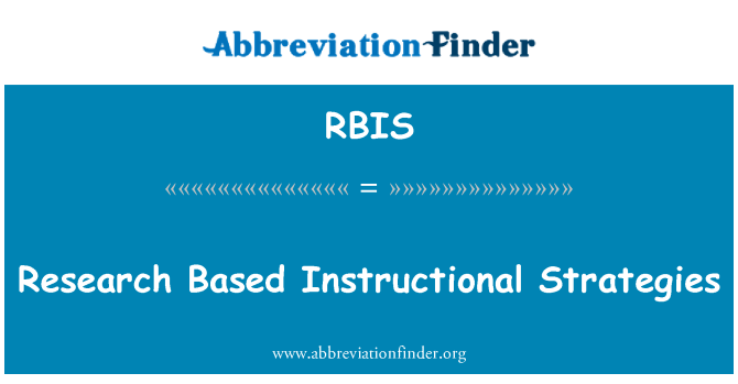 RBIS: Research Based Instructional Strategies