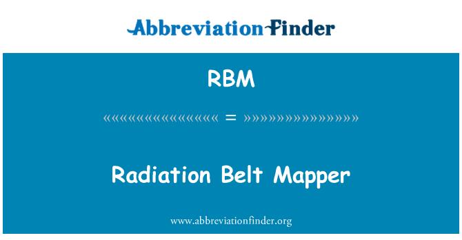 RBM: Radiation Belt Mapper