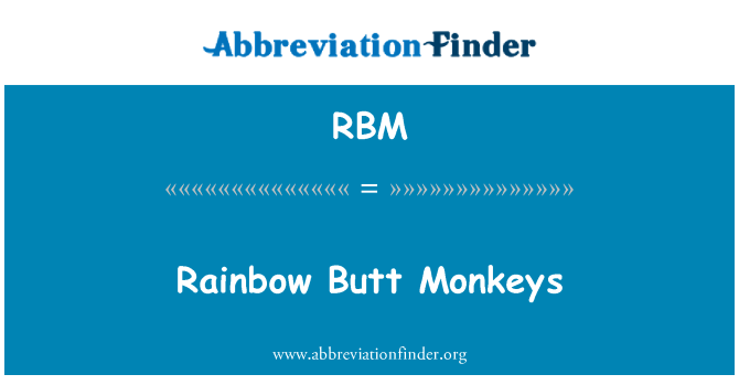 RBM: Rainbow Butt Monkeys