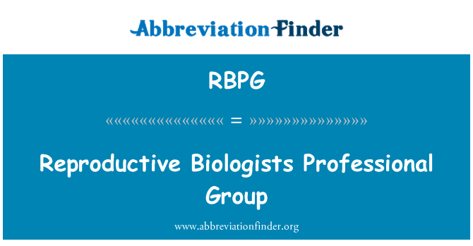 RBPG: Reproductive Biologists Professional Group