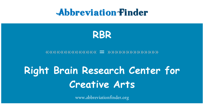 RBR: Right Brain Research Center for Creative Arts