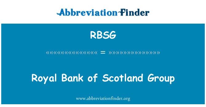 RBSG: Royal Bank of Scotland Group