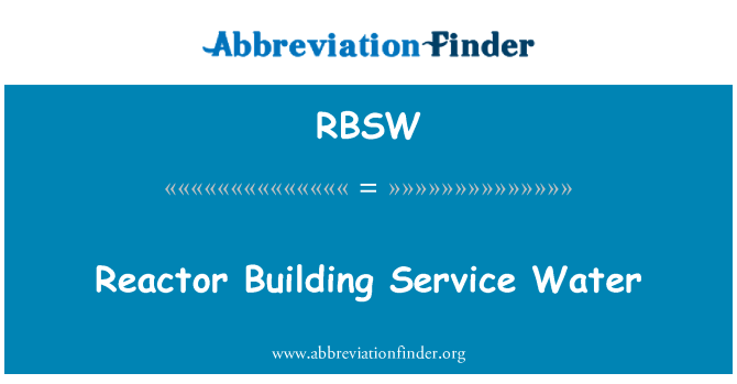 RBSW: Reactor Building Service Water