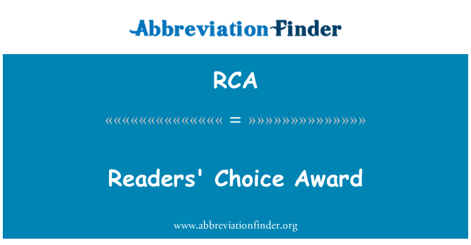 RCA: Readers' Choice Award