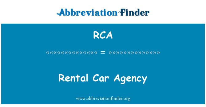 RCA: Rental Car Agency