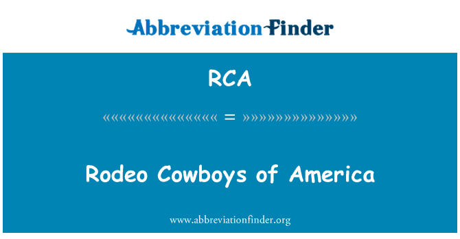 RCA: Rodeo Cowboys of America