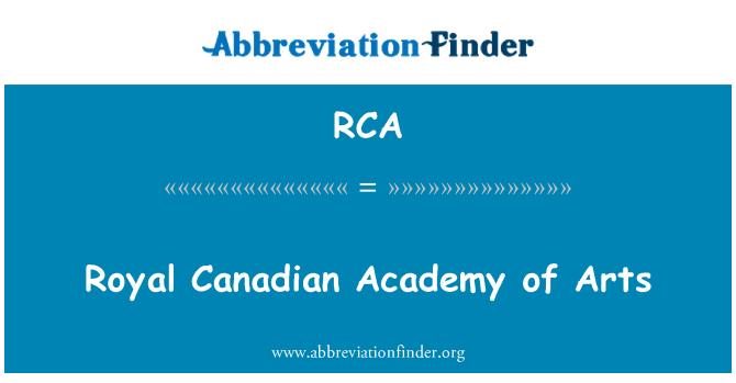 RCA: Royal Canadian Academy of Arts