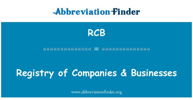 RCB: Registry of Companies & Businesses
