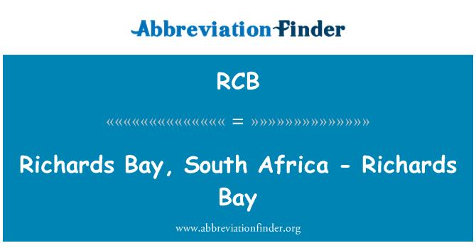 RCB: Richards Bay, South Africa - Richards Bay