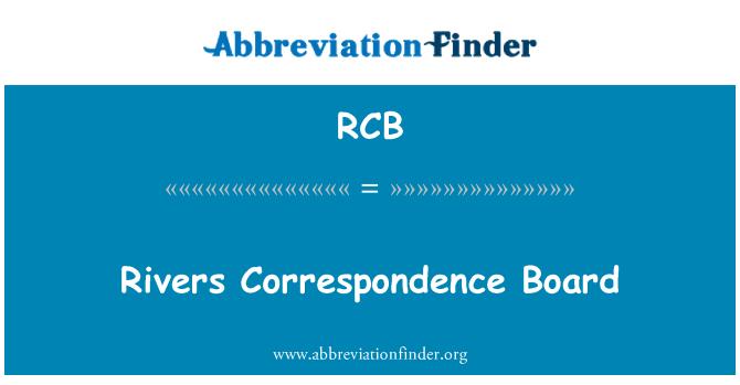 RCB: Rivers Correspondence Board