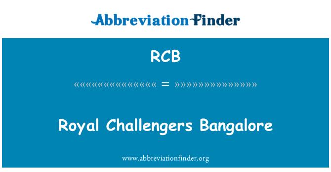 RCB: Royal Challengers Bangalore