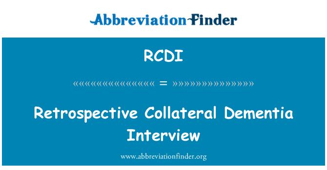 RCDI: Entrevista retrospectiva demencia colateral