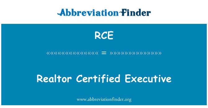 RCE: Realtor Certified Executive