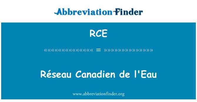 RCE: Réseau Canadien de l'Eau