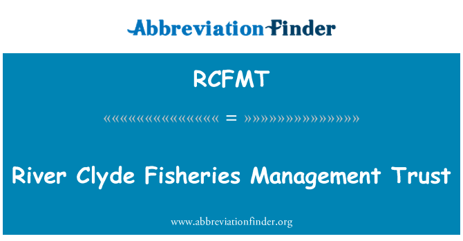 RCFMT: River Clyde Fisheries Management Trust