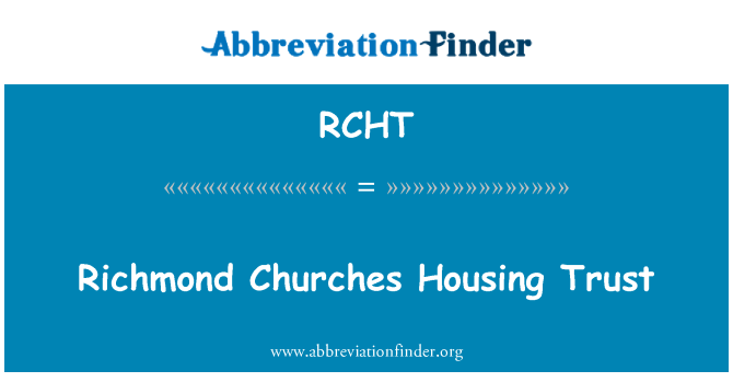 RCHT: 里士满教会住房信托