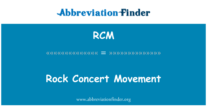 RCM: Rock Concert Movement