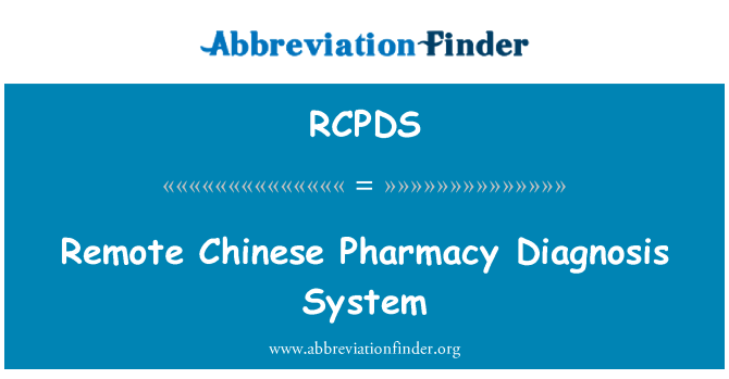 RCPDS: Remote Chinese Pharmacy Diagnosis System