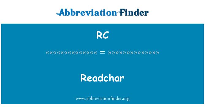 RC: Readchar