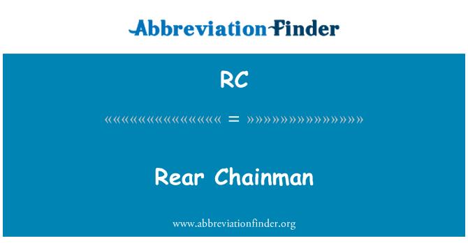 RC: Rear Chainman