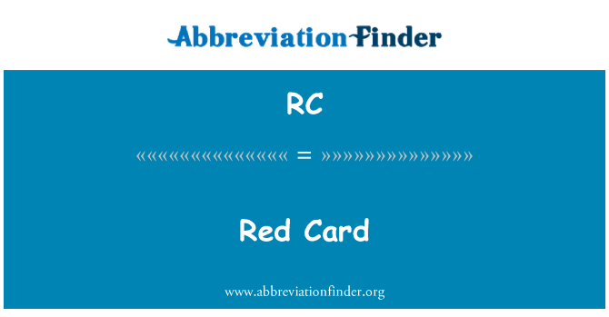RC: Red Card