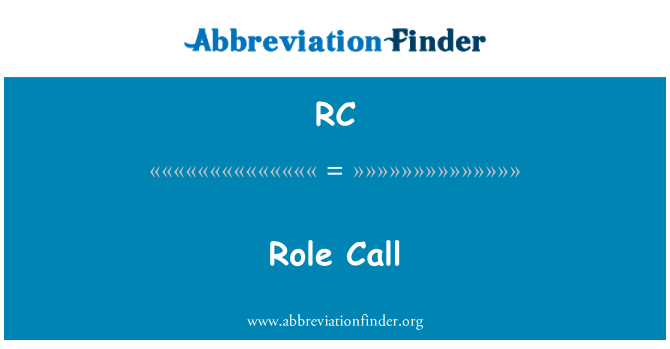 RC: Role Call
