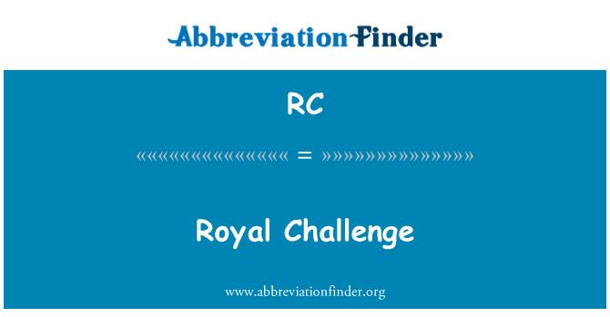 RC: Royal Challenge