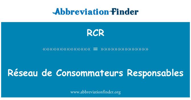 RCR: Réseau de Consommateurs Responsables
