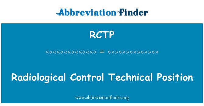 RCTP: Posición técnica Control radiológico