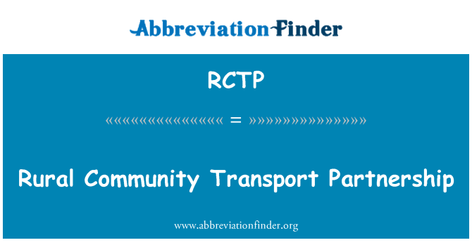 RCTP: Rural Community Transport Partnership