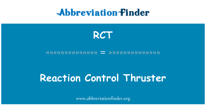 RCT: Reaction Control Thruster