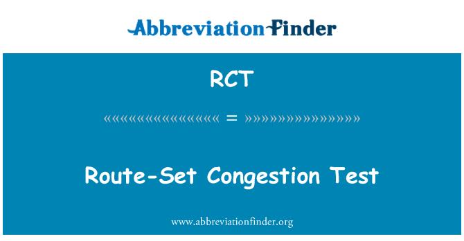 RCT: Route-Set Congestion Test