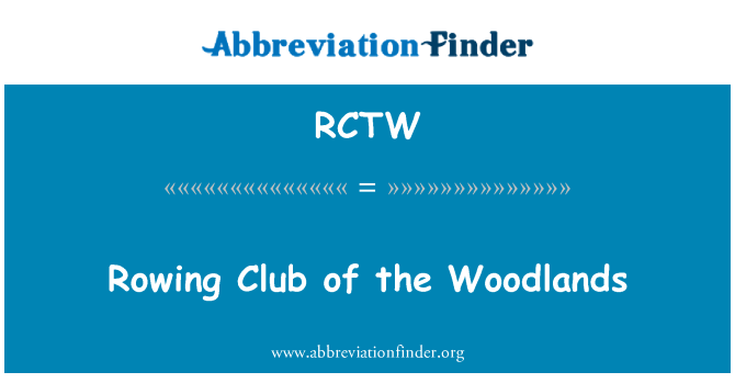 RCTW: Rowing Club of the Woodlands