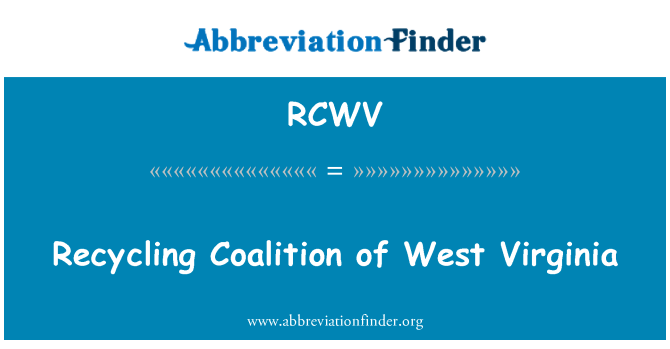 RCWV: Recycling Coalition of West Virginia