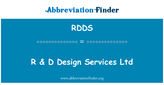 RDDS: R & D Design Services Ltd