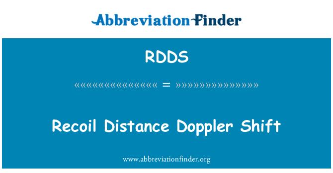 RDDS: Recoil Distance Doppler Shift