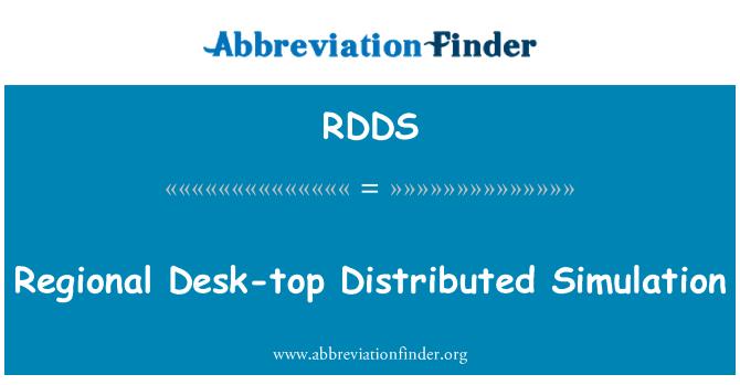 RDDS: Mesa regional distribuidos simulación