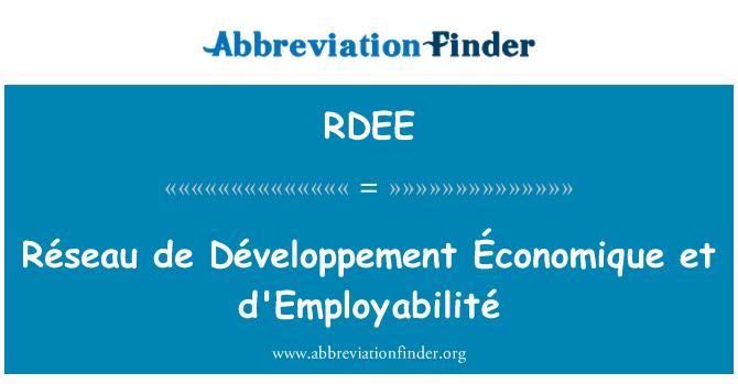 RDEE: Réseau de Développement Économique et d'Employabilité
