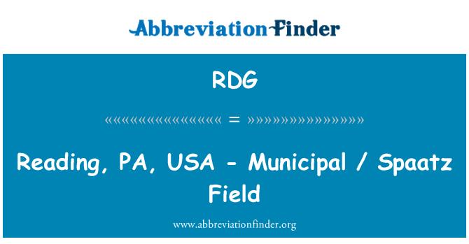 RDG: Reading, PA, USA - Municipal / Spaatz Field