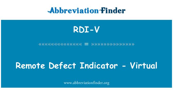 RDI-V: Uzaktan hata göstergesi - sanal