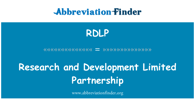 RDLP: Research and Development Limited Partnership
