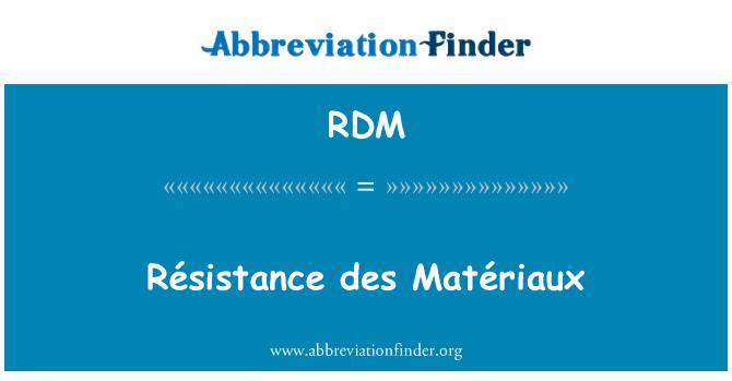 RDM: Résistance des Matériaux