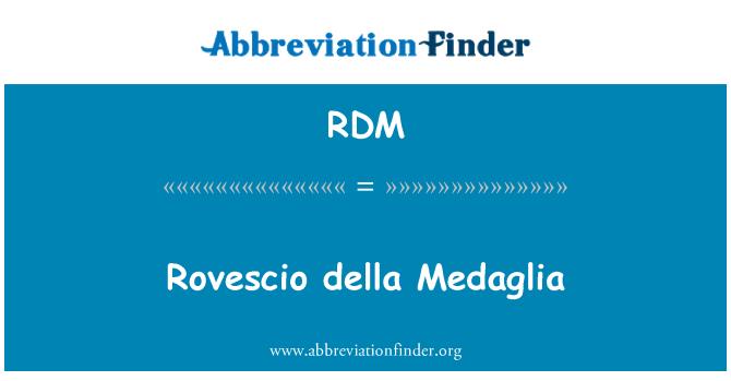 RDM: Rovescio della Medaglia