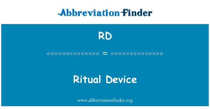 RD: Ritual Device