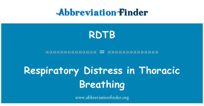 RDTB: Respiratory Distress in Thoracic Breathing