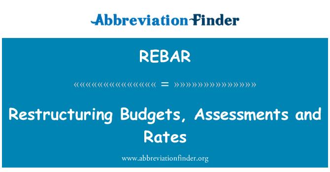 REBAR: Reestructuración de cuotas, tarifas y presupuestos