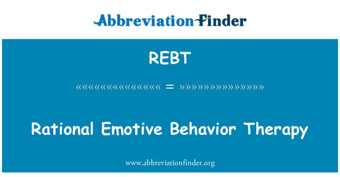 REBT: Ratsionaalne emotiivne käitumisteraapia